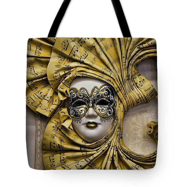 Venetian Carnaval Mask Tote Bag by David Smith