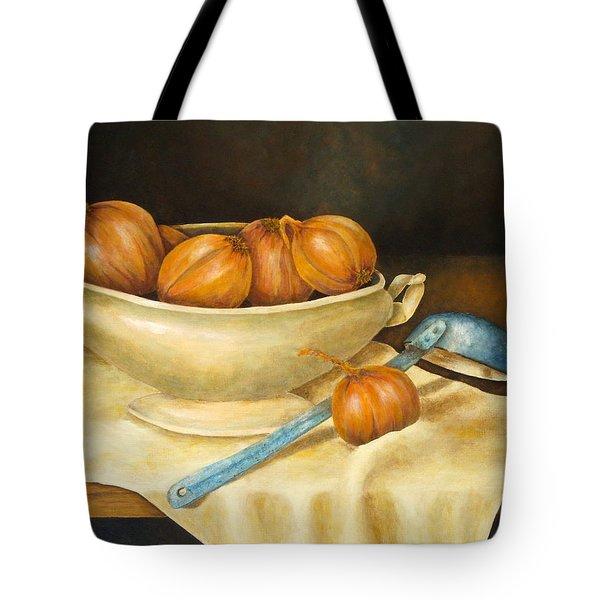 Venetian Table Tote Bag by Pamela Allegretto