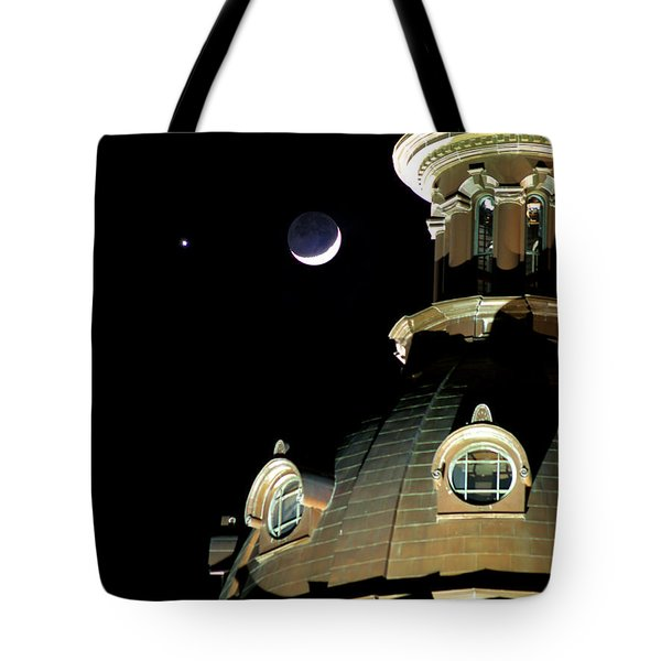 Venus And Crescent Moon-1 Tote Bag