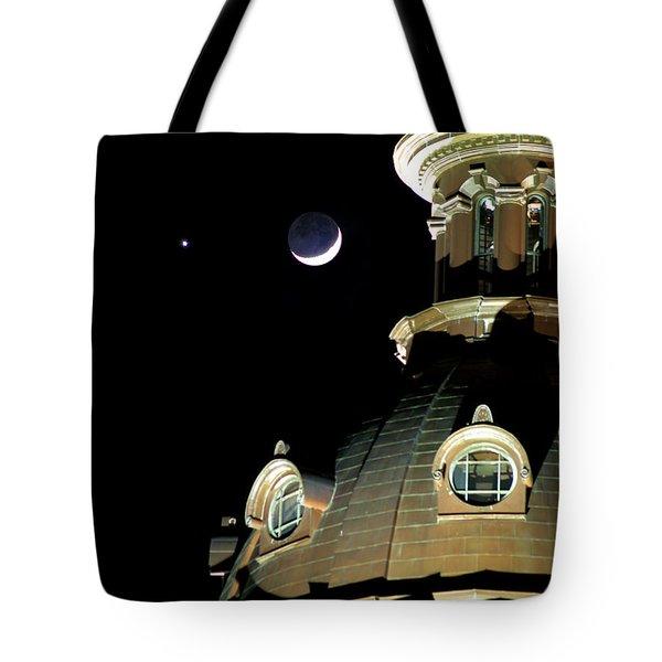 Venus And Crescent Moon-1 Tote Bag