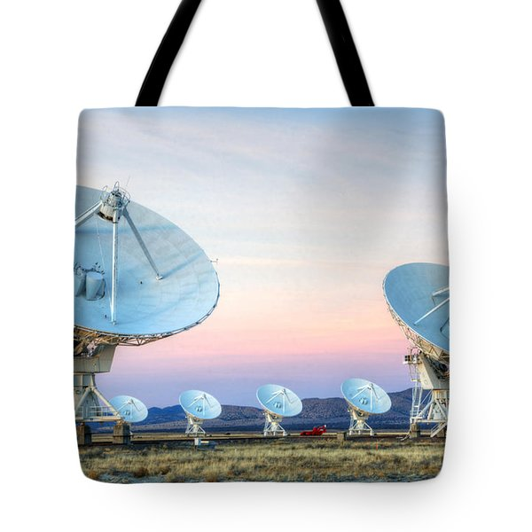 Very Large Array Of Radio Telescopes  Tote Bag by Bob Christopher