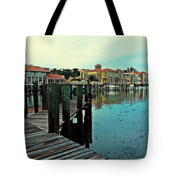 View From The Boardwalk  Tote Bag by K Simmons Luna