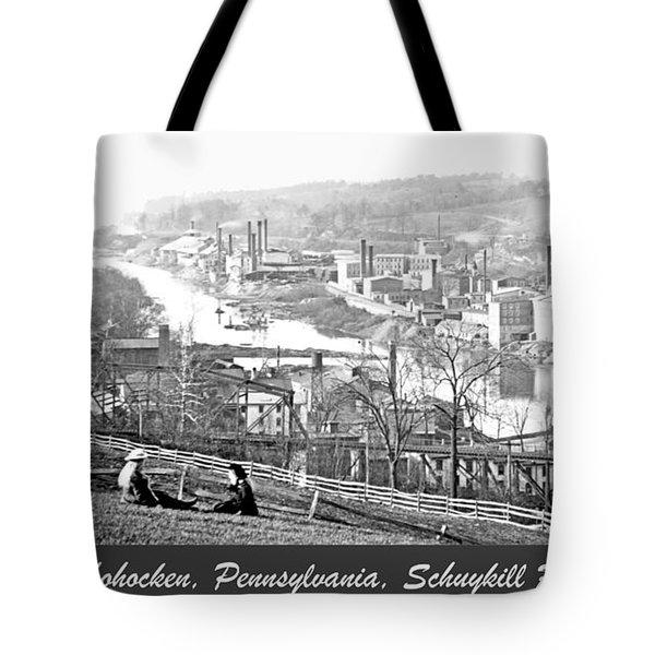 View Of Conshohocken Pennsylvania C 1900 Tote Bag