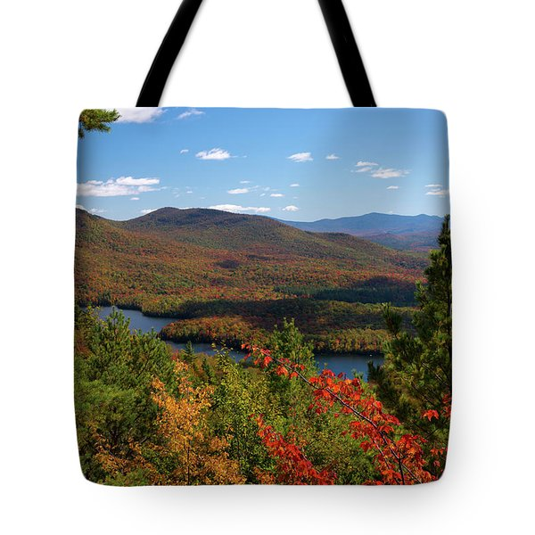 View Of Mckenzie Pond From Mount Baker Tote Bag