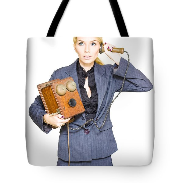 Vintage Business Tote Bag
