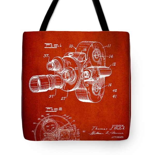 Vintage Camera Patent Drawing From 1938 Tote Bag by Aged Pixel