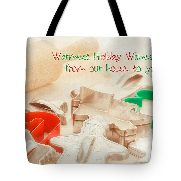 Vintage Christmas Cookie Cutters  Tote Bag