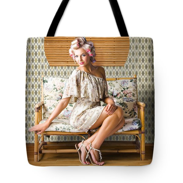 Vintage Fashion Photo Of A Sexy Blond Woman  Tote Bag
