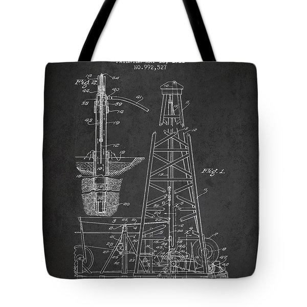 Vintage Oil Drilling Rig Patent From 1911 Tote Bag