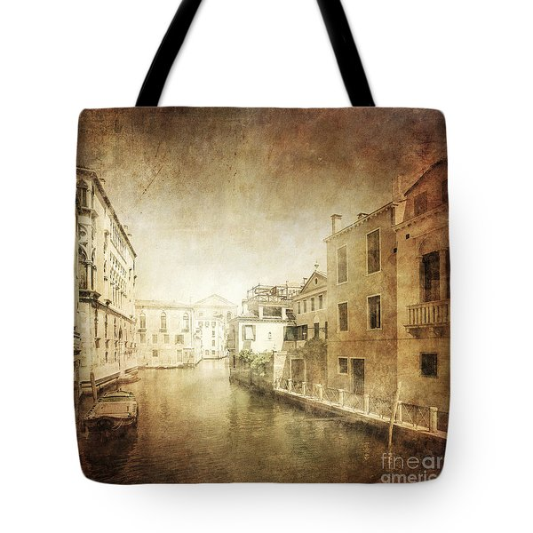 Vintage Photo Of Venetian Canal Tote Bag by Evgeny Kuklev