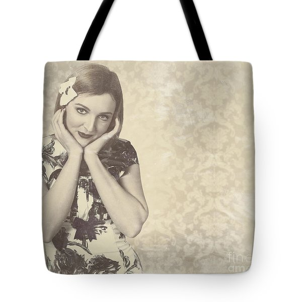 Vintage Photograph Of A Vintage Hollywood Actress Tote Bag