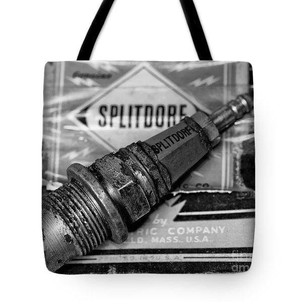 Vintage Sparkplugs Tote Bag by Wilma  Birdwell