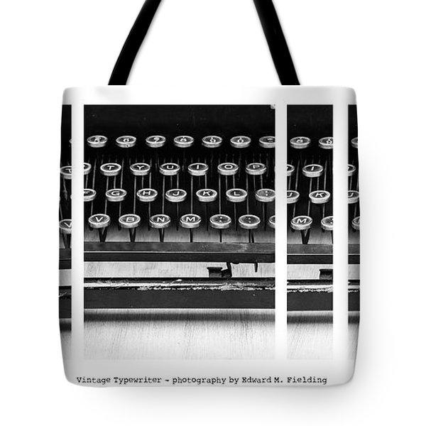 Vintage Typewriter Tote Bag by Edward Fielding