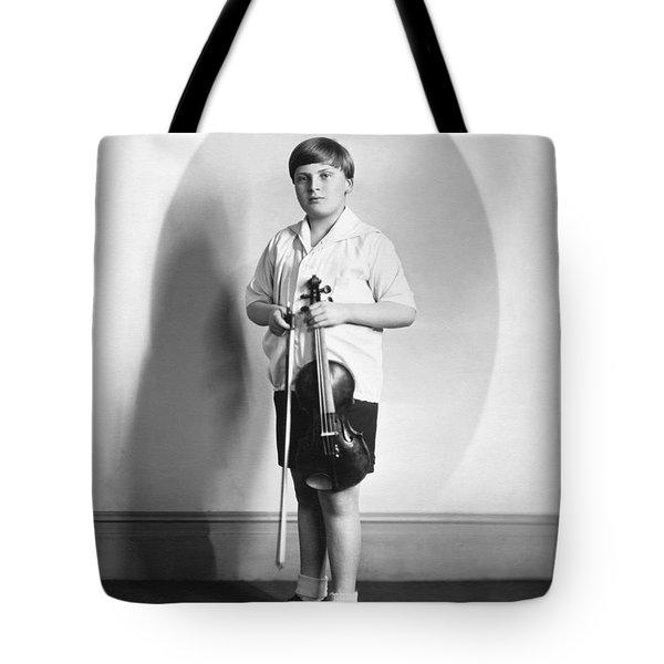 Violinist Yehudi Menuhin Tote Bag