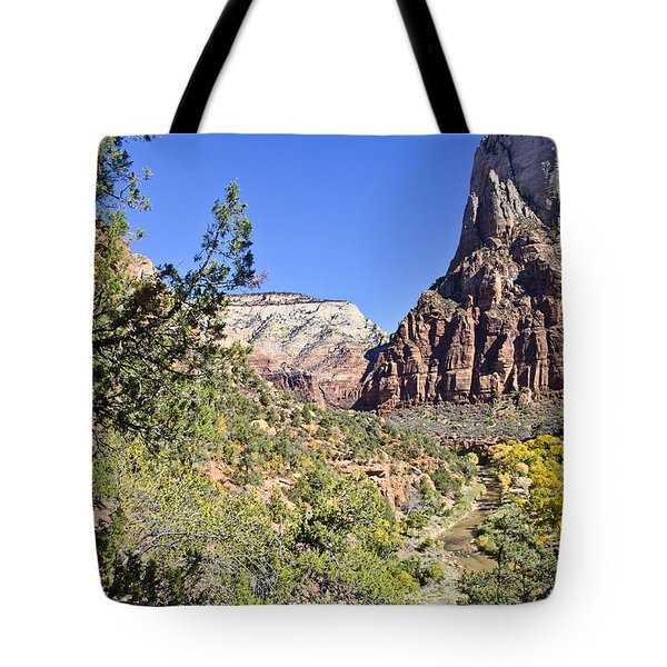 Virgin River View -zion Tote Bag by Jon Berghoff