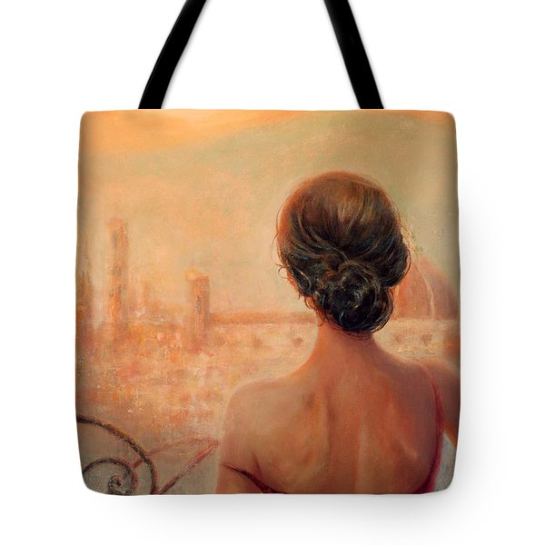 Tote Bag featuring the painting Visions Of Florence by Michael Rock