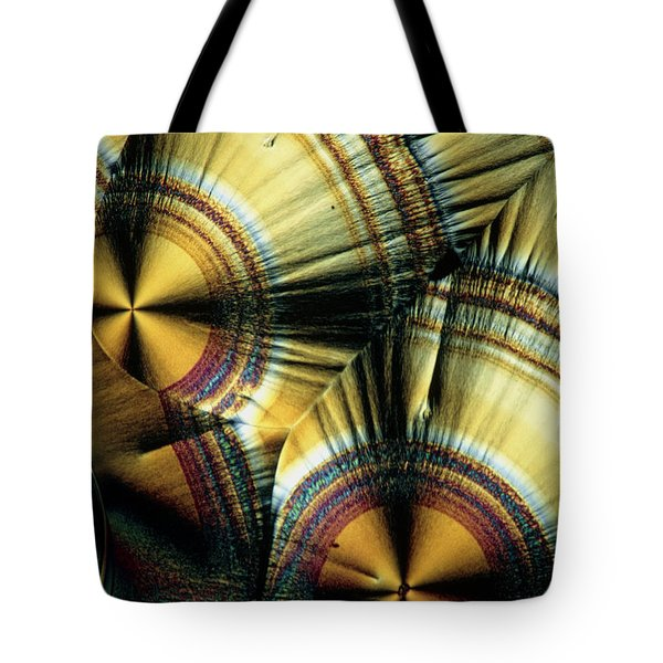 Vitamin C Crystals Tote Bag by Claude Nuridsany and Marie Perennou