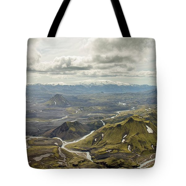 Volcano Valley In Iceland Tote Bag