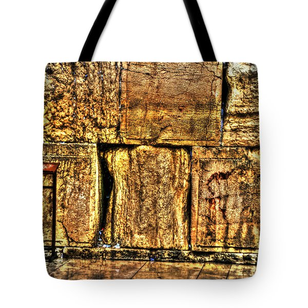 Tote Bag featuring the photograph Wailing Wall by Doc Braham