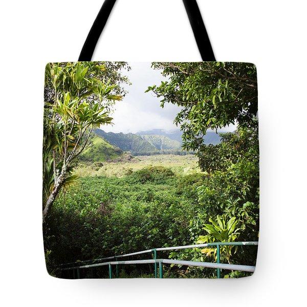 Wailua Valley State Wayside Tote Bag by Jenna Szerlag