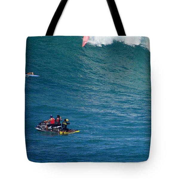 Waimea Bay Takeoff Tote Bag