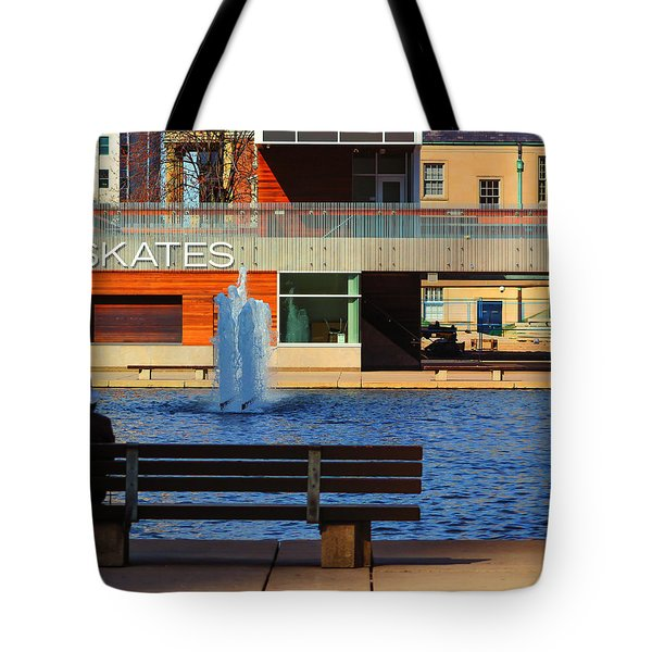 Waiting At Nathan Phillips. Tote Bag