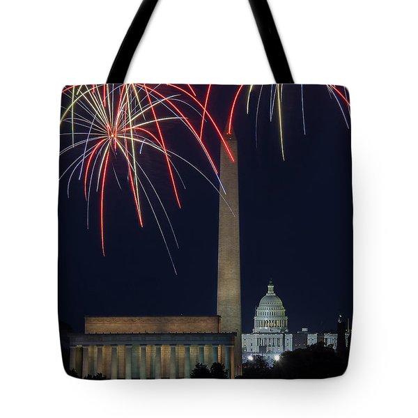 Washington Dc Fourth 3 Tote Bag