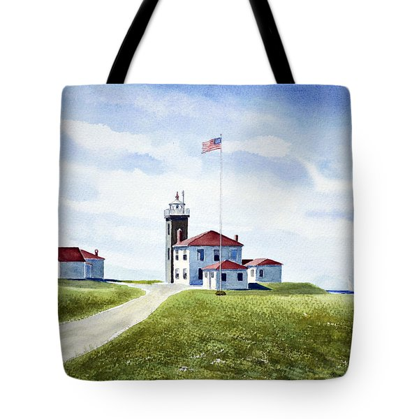 Watch Hill Ri Lighthouse Tote Bag by Joan Hartenstein