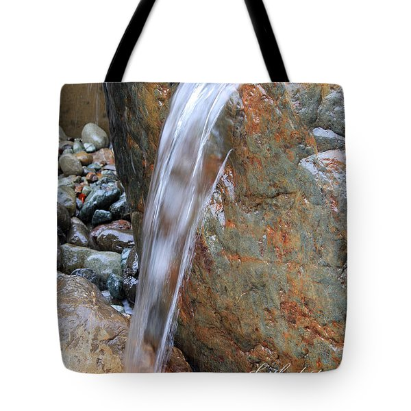 Water And Rocks II Tote Bag