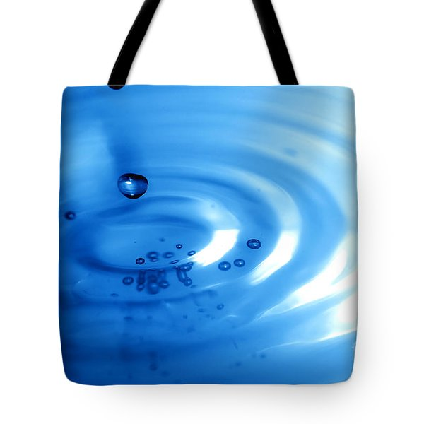 Water Drops Tote Bag by Michal Bednarek
