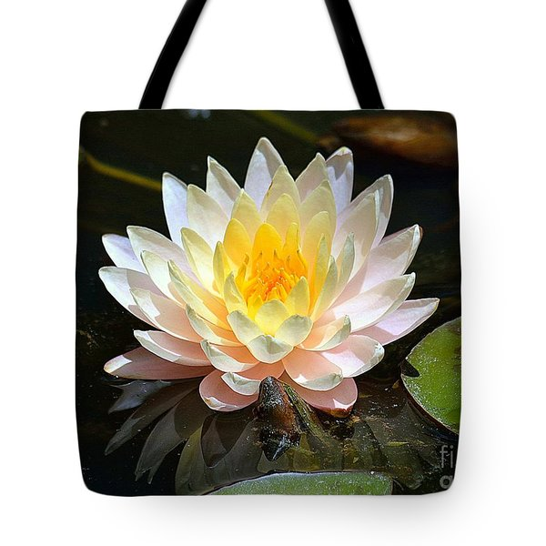 Tote Bag featuring the photograph Water Lily by Lisa L Silva