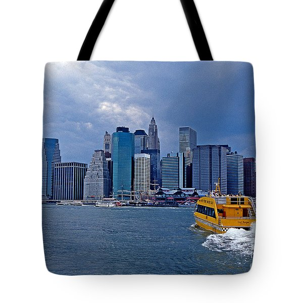 Water Taxi Tote Bag by Bruce Bain