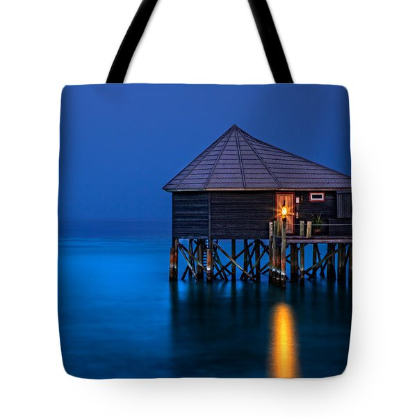 Water Villa In The Maldives Tote Bag