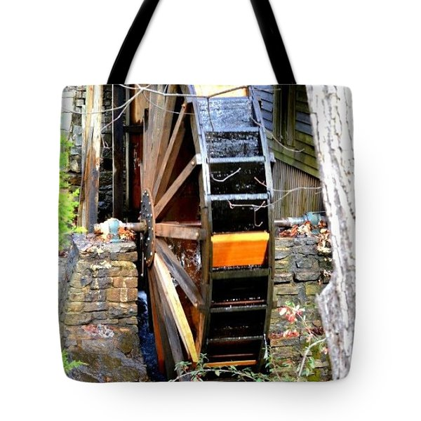 Tote Bag featuring the photograph Water Wheel by Tara Potts