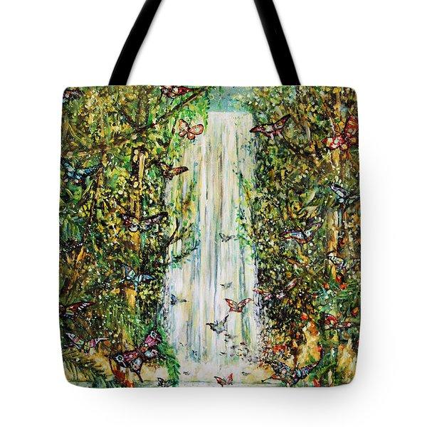 Waterfall Of Prosperity II Tote Bag