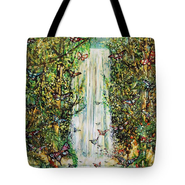 Waterfall Of Prosperity II Tote Bag