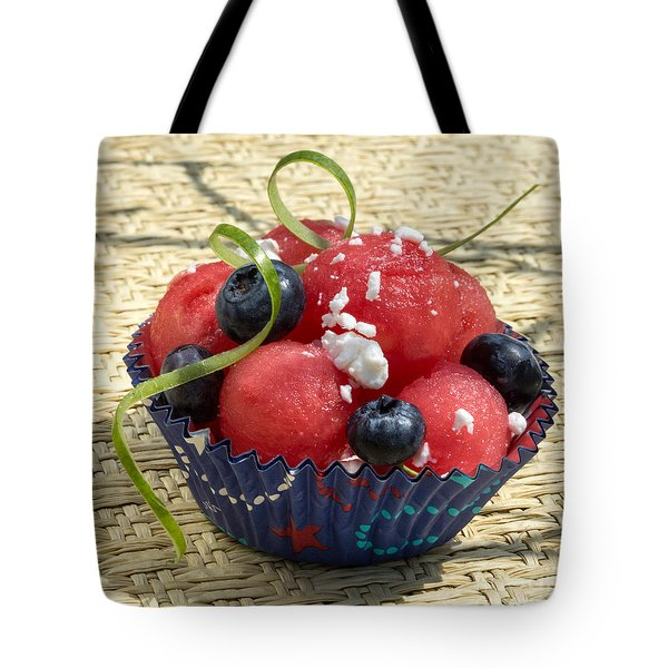 Watermelon Blueberry And Goatcheese Tote Bag