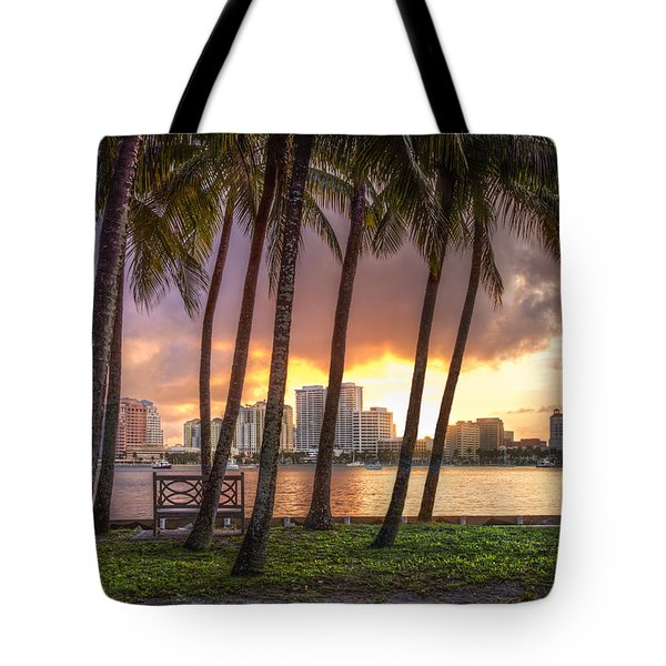 West Palm Beach Skyline Tote Bag