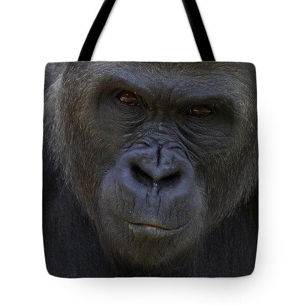 Western Lowland Gorilla Portrait Tote Bag