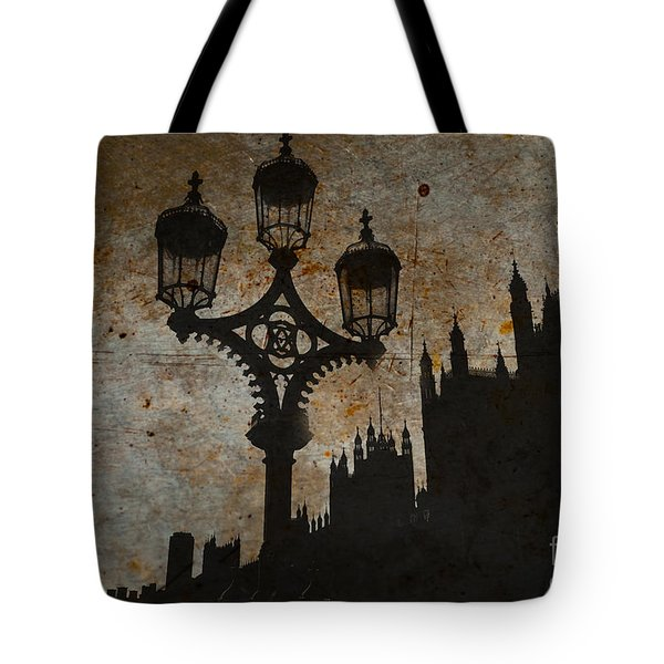 Tote Bag featuring the digital art Westminster Silhouette by Matt Malloy