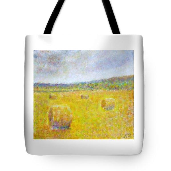 Wheat Bales At Harvest Tote Bag