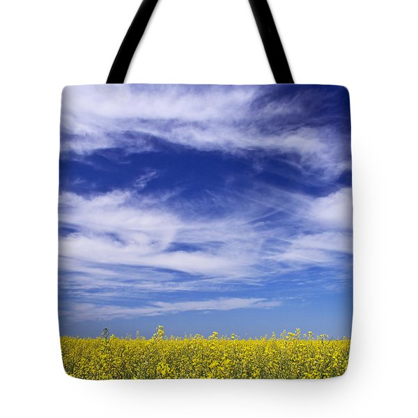 Where Land Meets Sky Tote Bag by Keith Armstrong