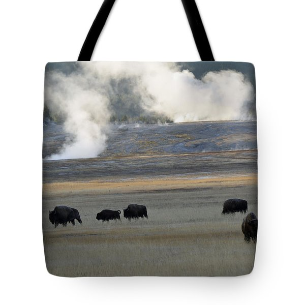 Where The Buffalo Roam Tote Bag by Bruce Gourley
