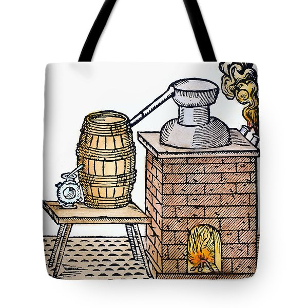 Whiskey Still, 1616 Tote Bag