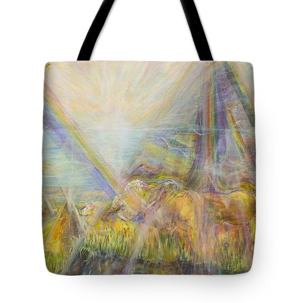 White Buffalo 12 Tote Bag by Cathy Long