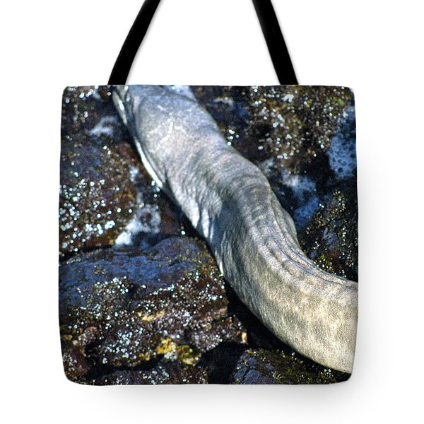 White Moray Eel Tote Bag by Lehua Pekelo-Stearns