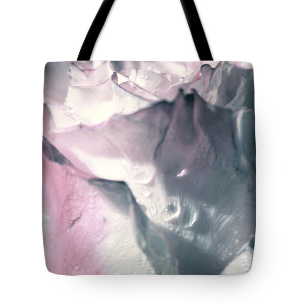 White Pink Rose Tote Bag