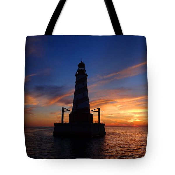 White Shoal Light Tote Bag by Keith Stokes
