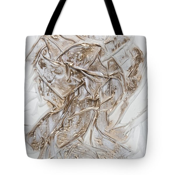 White With Gold Tote Bag