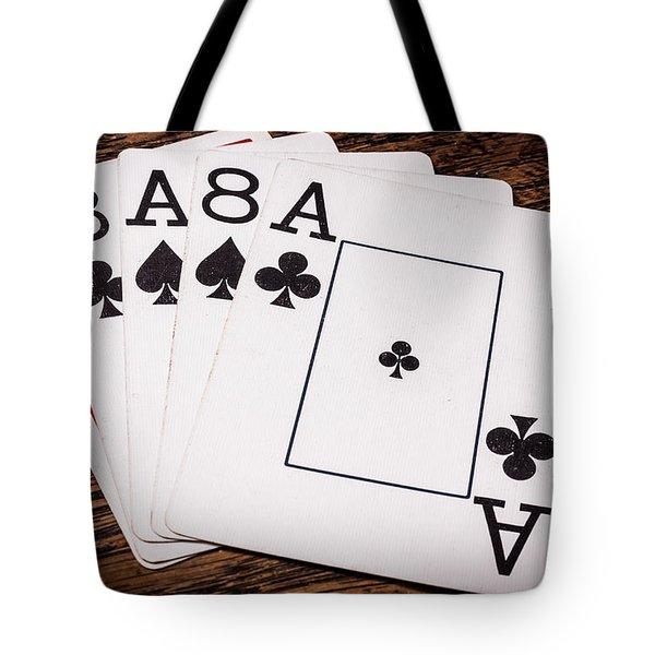 Wild Bill Hickok Dead Mans Hand Tote Bag by Semmick Photo